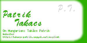 patrik takacs business card